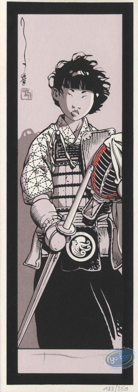 Marque-page sérigraphie, Kogaratsu : Guerrier
