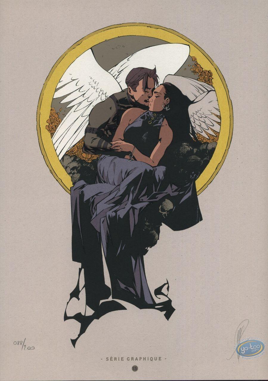 Ex-libris Sérigraphie, Paradis Perdu : Le baiser des anges