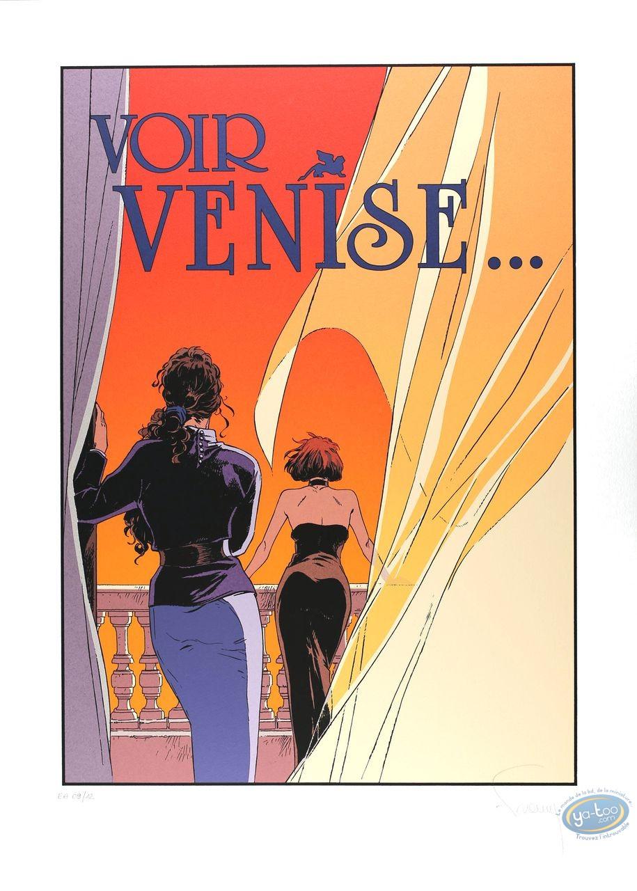 Affiche Sérigraphie, Largo Winch : Voir Venise