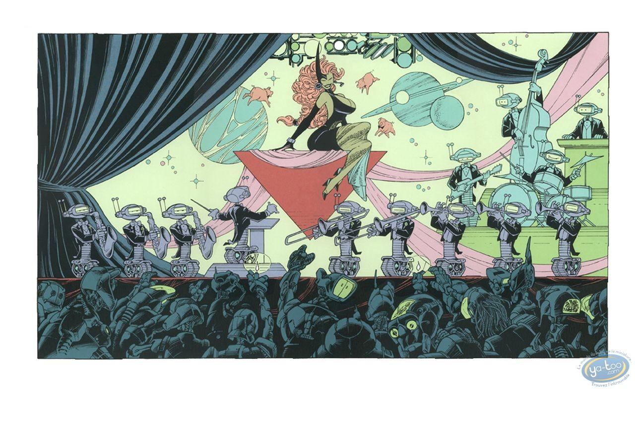 Affiche Sérigraphie, Aquablue : Le concert des Cybots