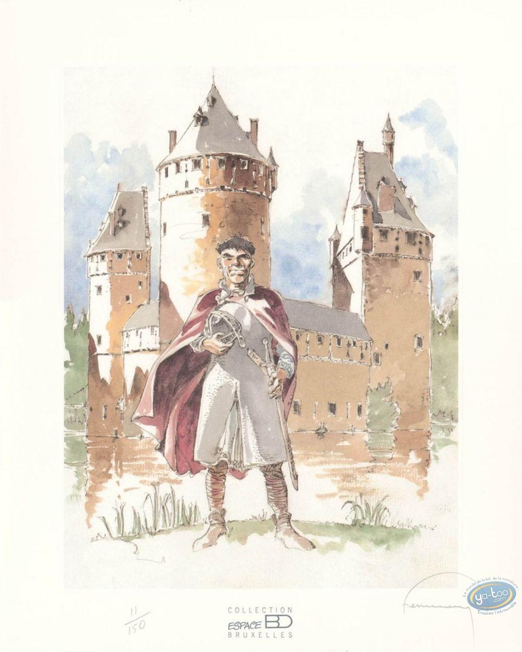 Affiche Offset, Tours de Bois-Maury (Les) : Le château de Beersel