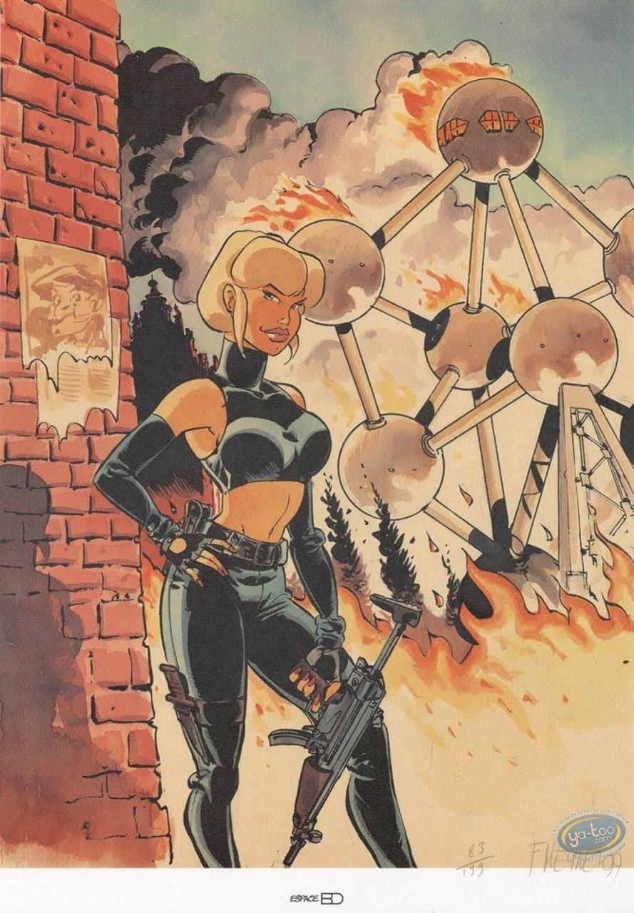 Affiche Offset, Tatiana K : A l'Atomium