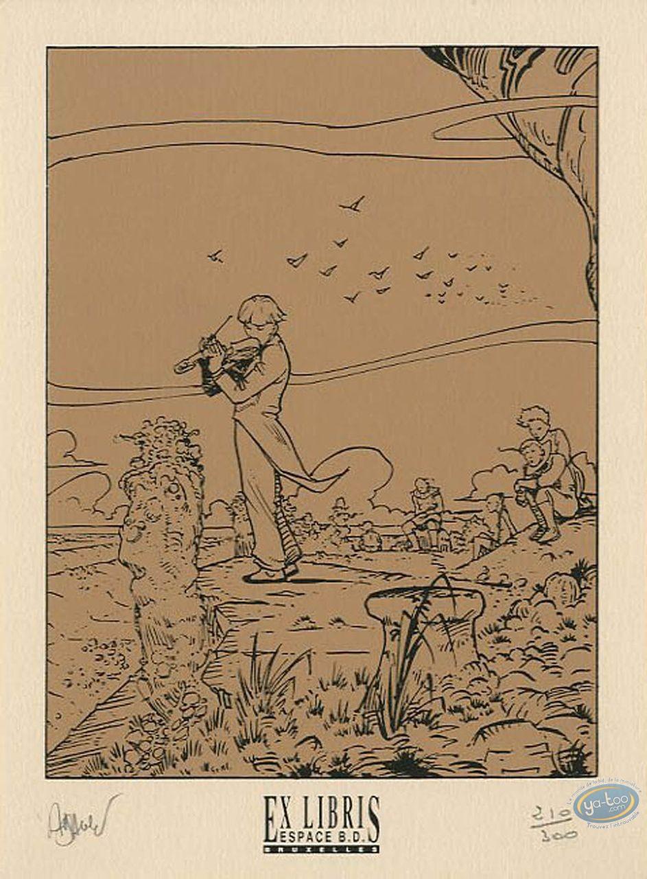 Ex-libris Sérigraphie, Eaux de Mortelune (Les) : Violoniste