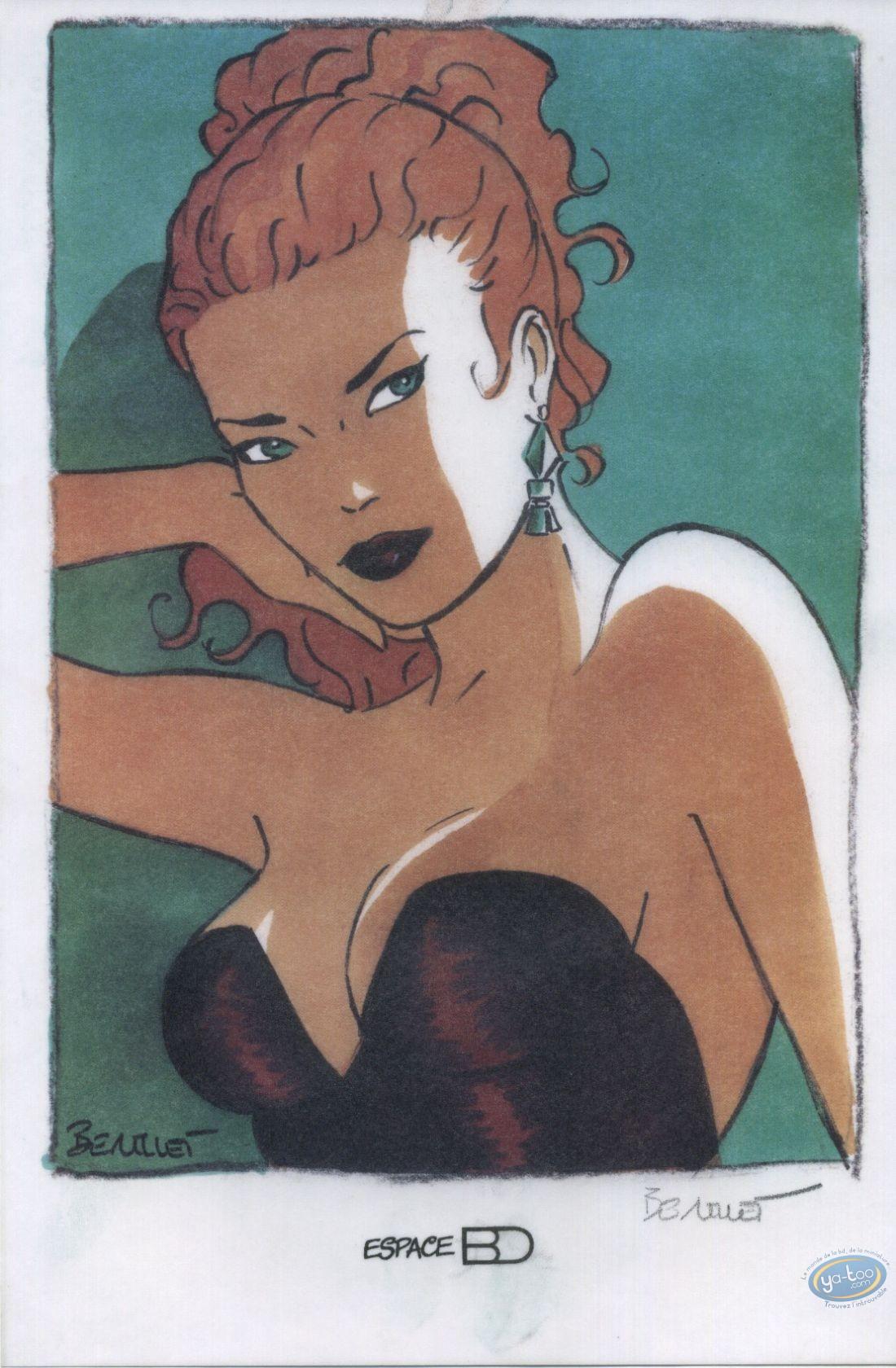 Ex-libris Offset, Pin-Up : Portrait de Dottie (calque)