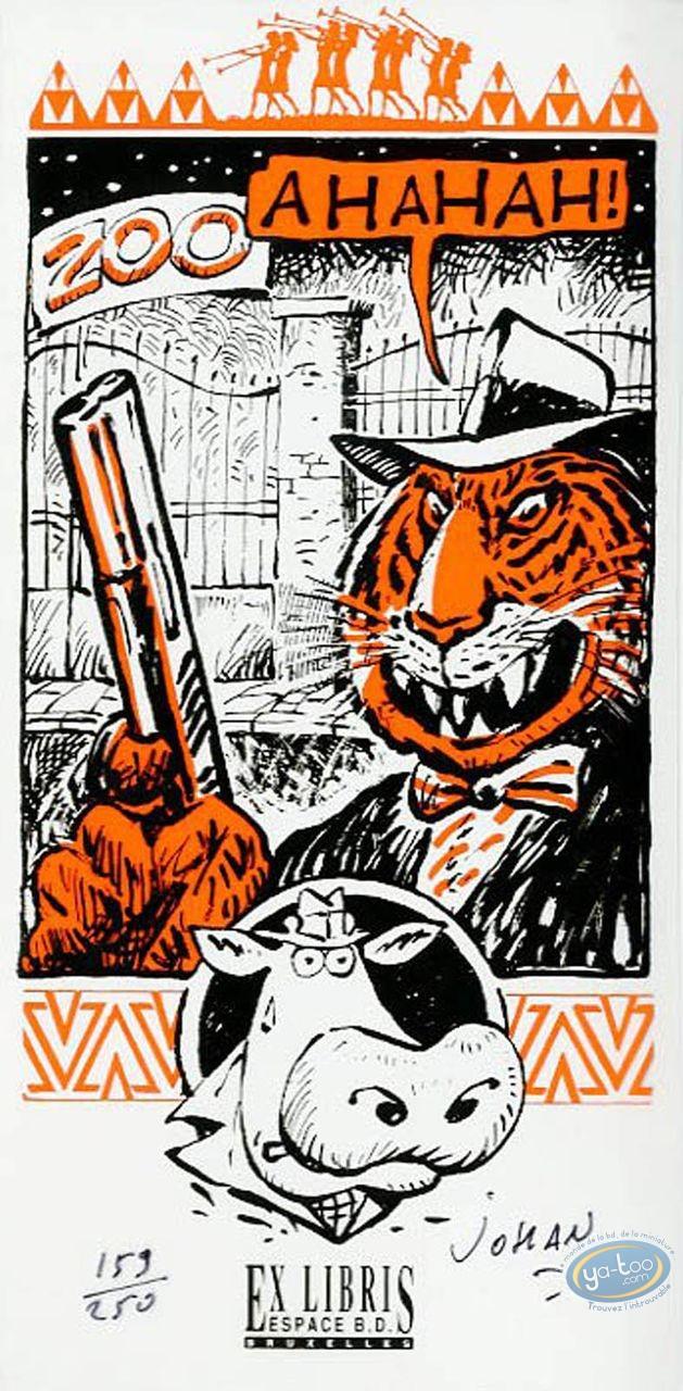 Ex-libris Sérigraphie, Vache (La) : Zoo