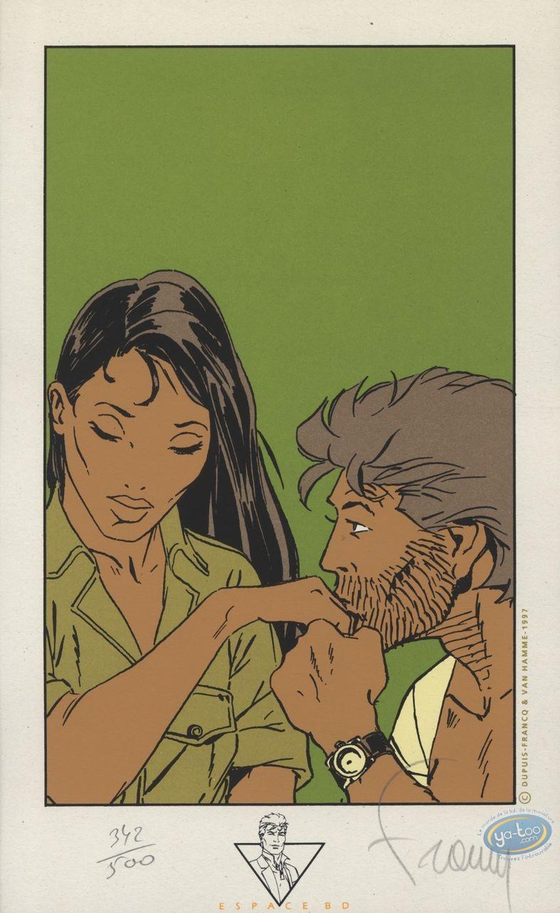 Ex-libris Sérigraphie, Largo Winch : Baisemain