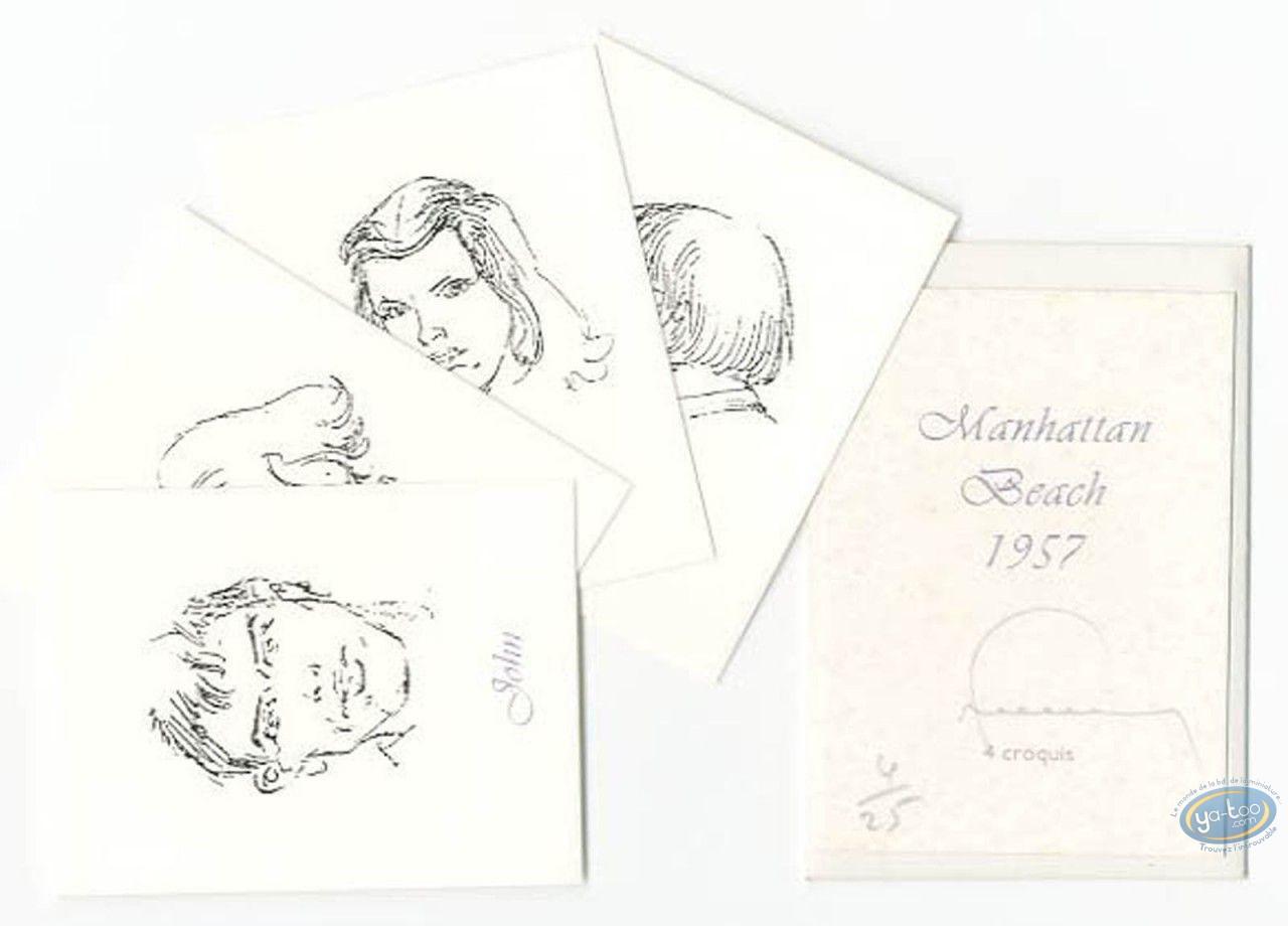 Ex-libris Sérigraphie, Manhattan Beach 1957 : Galerie de portraits (n&b)