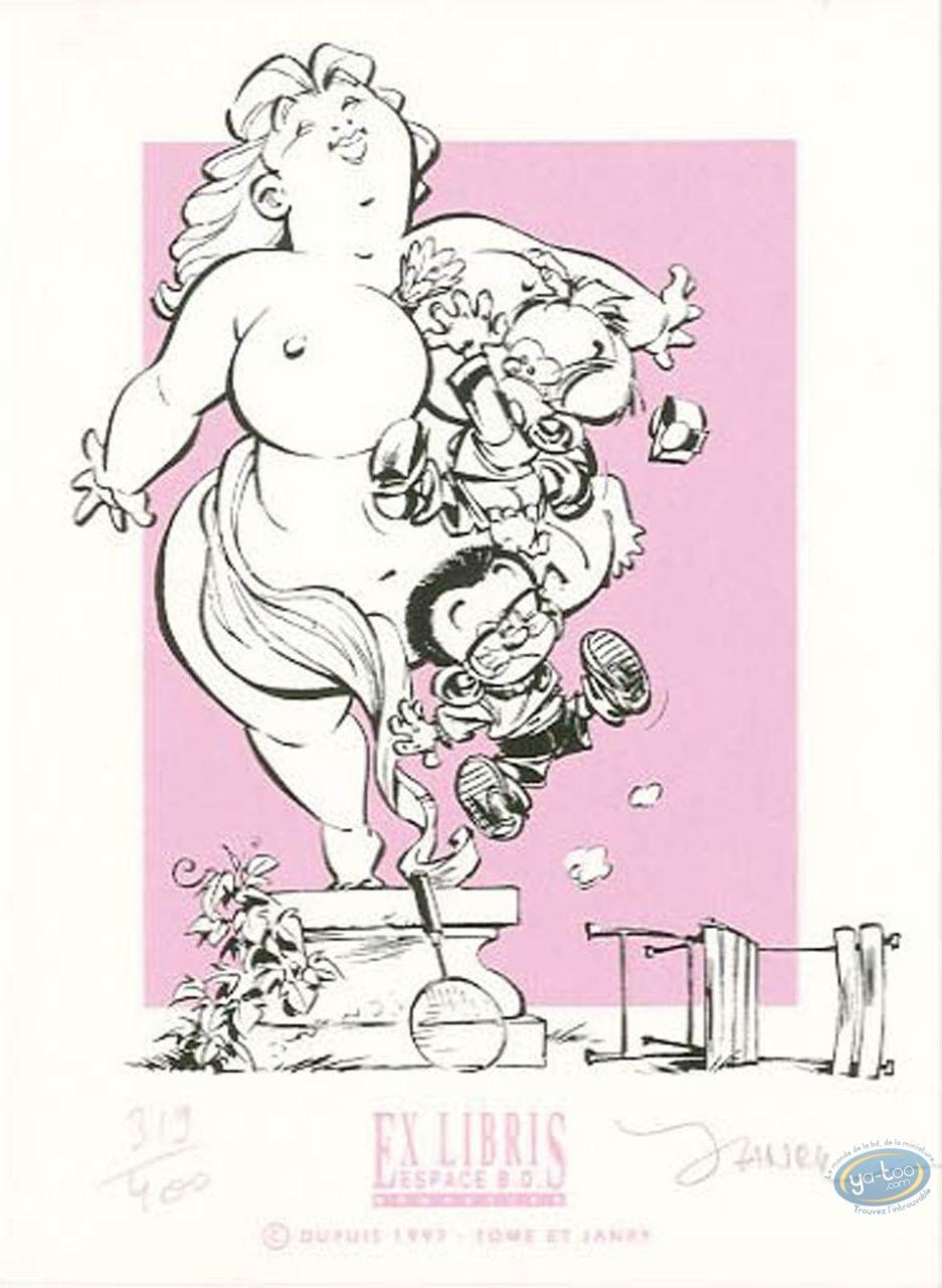 Ex-libris Sérigraphie, Petit Spirou (Le) : Fléchettes