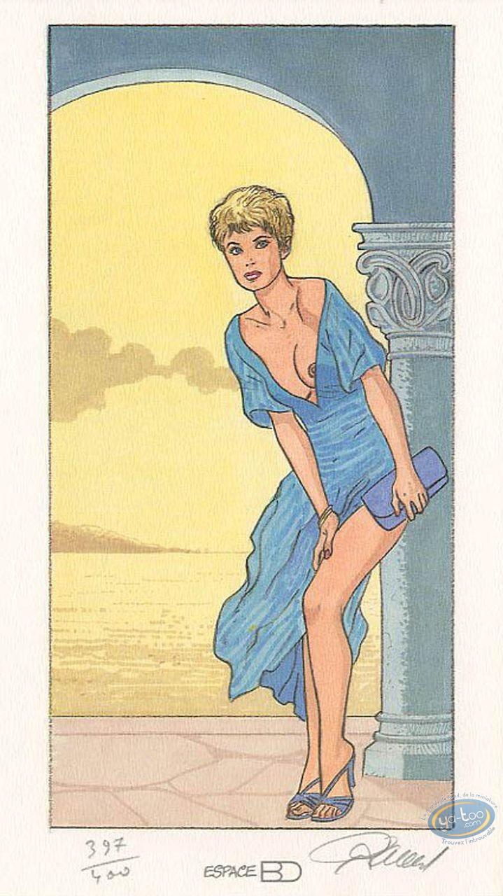 Ex-libris Offset, Jessica Blandy : Robe bleue