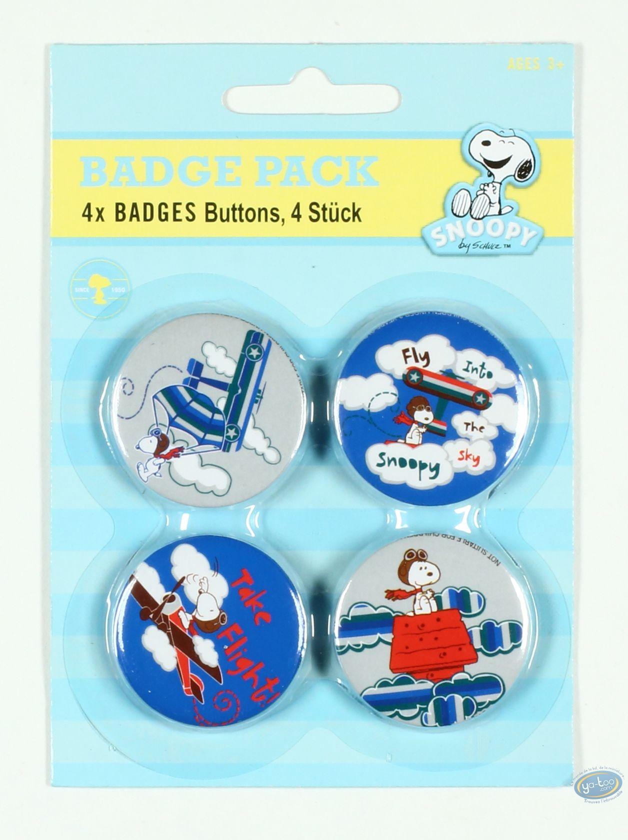Pin's, Snoopy : 4 badges Snoopy dans les airs (2ème version)
