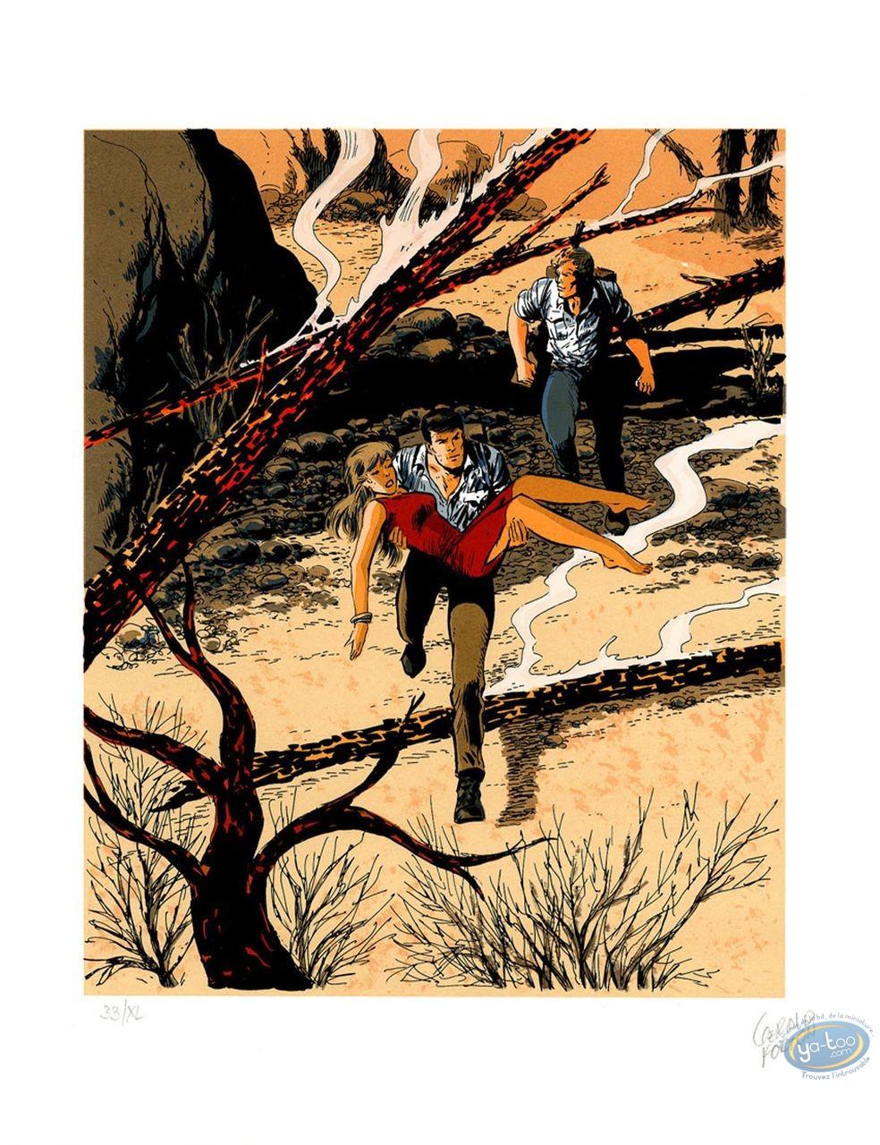 Affiche Sérigraphie, Bob Morane : Le feu