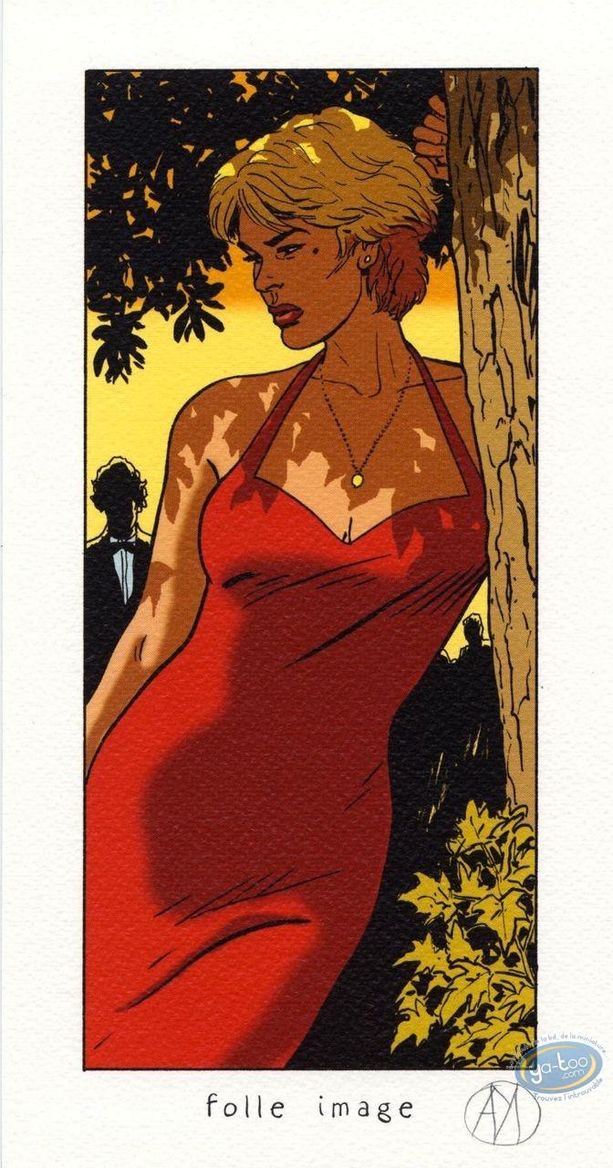 Ex-libris Offset, Lady S : En robe rouge