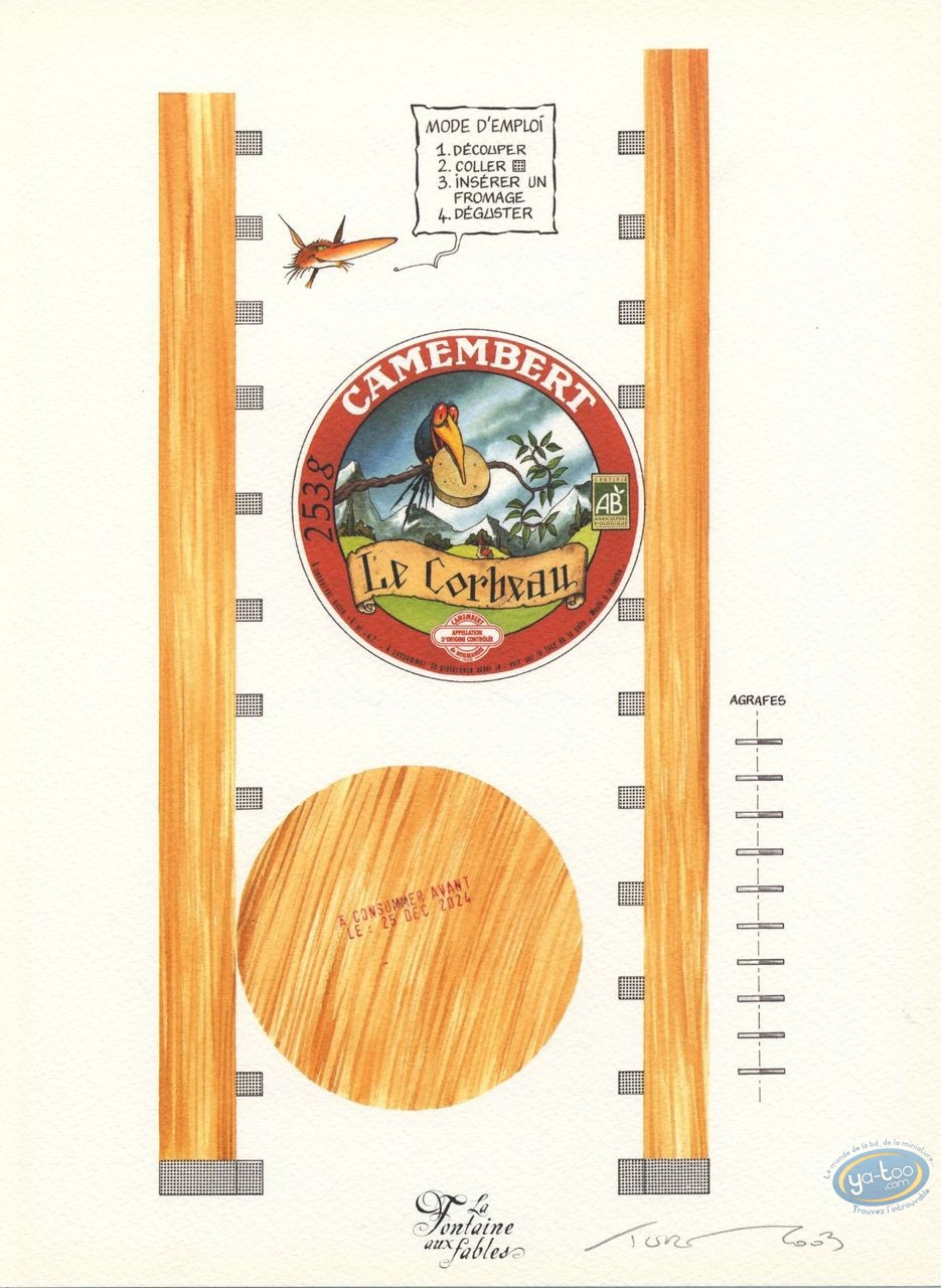 Ex-libris Offset, Fontaine aux Fables (La) : le Corbeau et le Renard