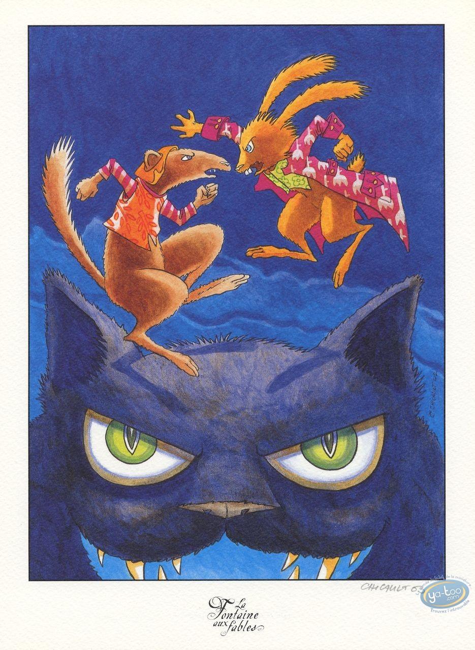 Ex-libris Offset, Fontaine aux Fables (La) : Le Chat, la Belette et le Petit Lapin