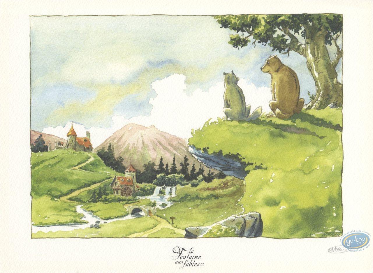 Ex-libris Offset, Fontaine aux Fables (La) : Le Chien & le Loup