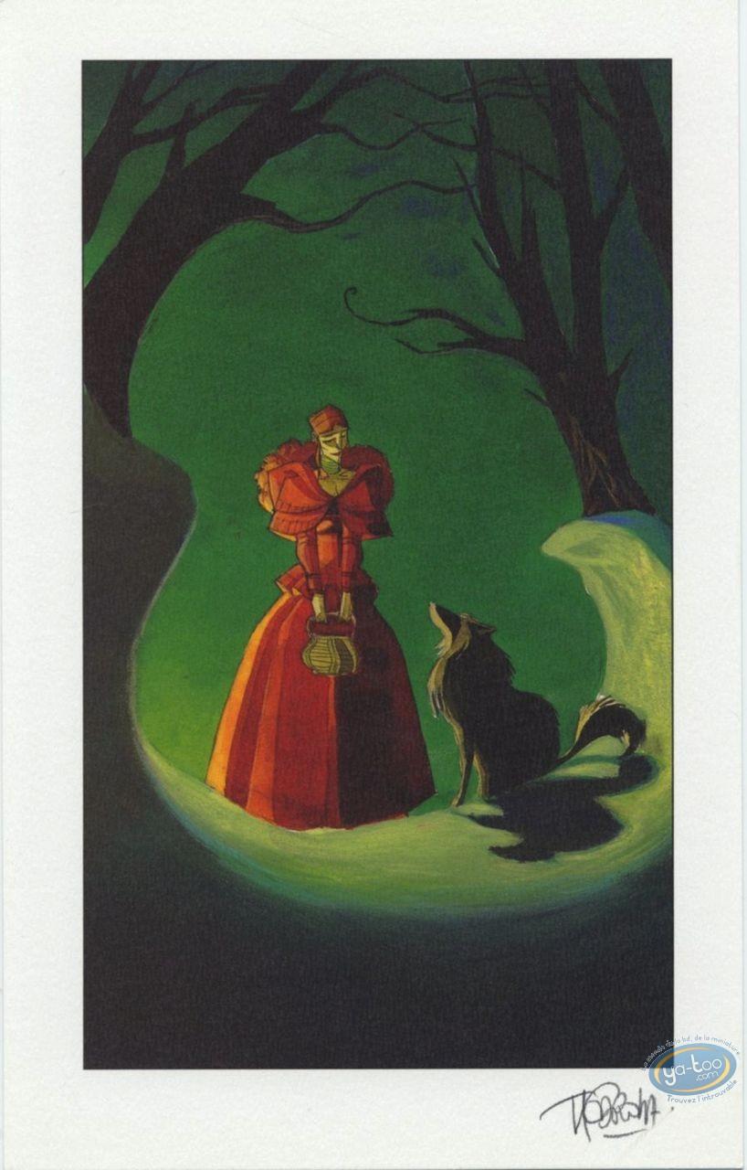 Ex-libris Offset, Fontaine aux Fables (La) : Chaperon rouge & le loup