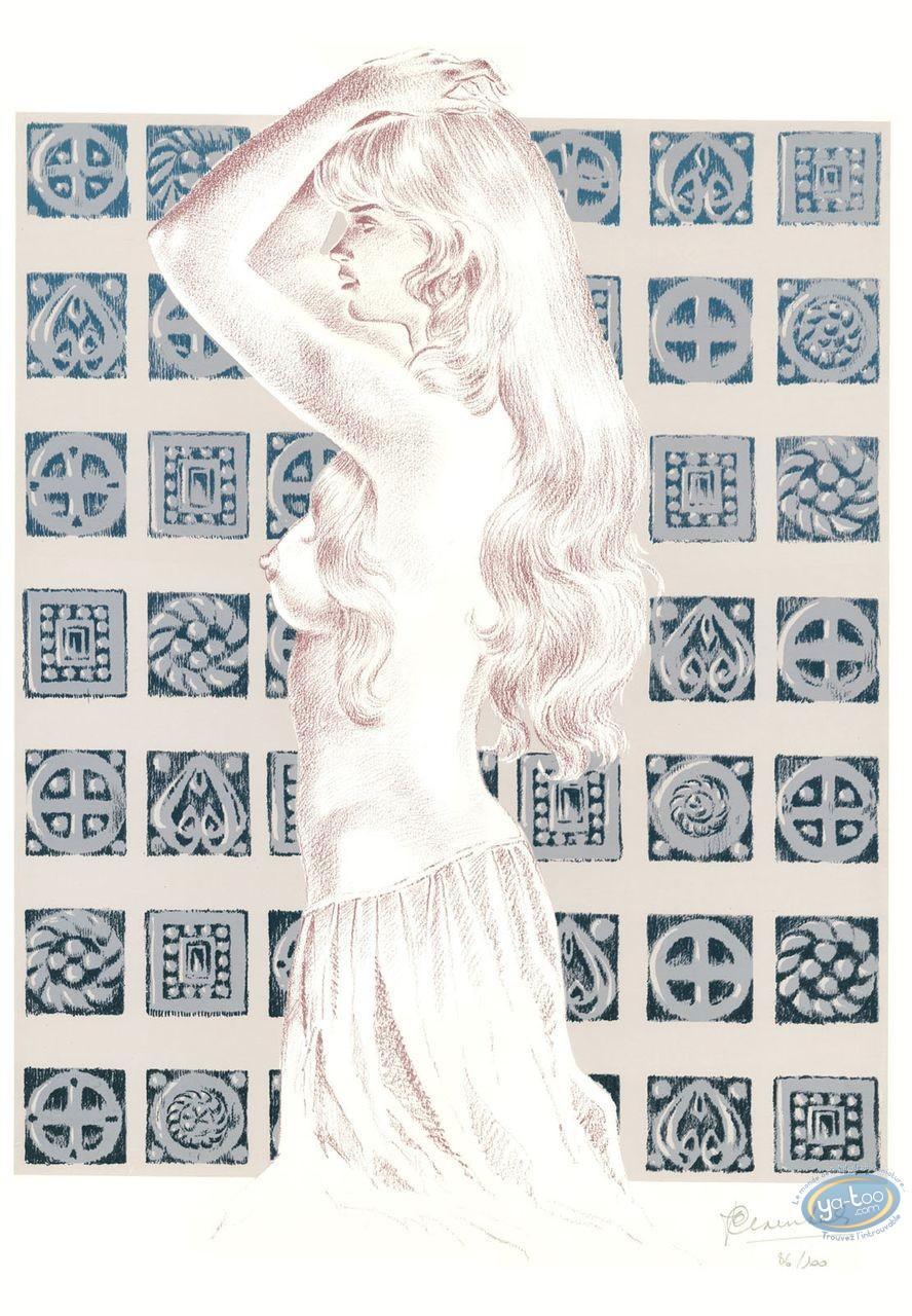 Affiche Sérigraphie, Chevalier Ardent : Gwendoline (variante)
