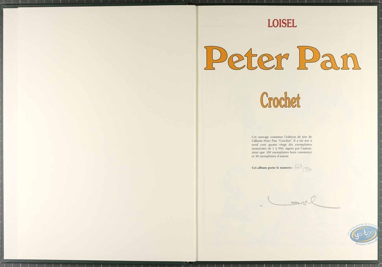 Tirage de tête, Peter Pan : Crochet