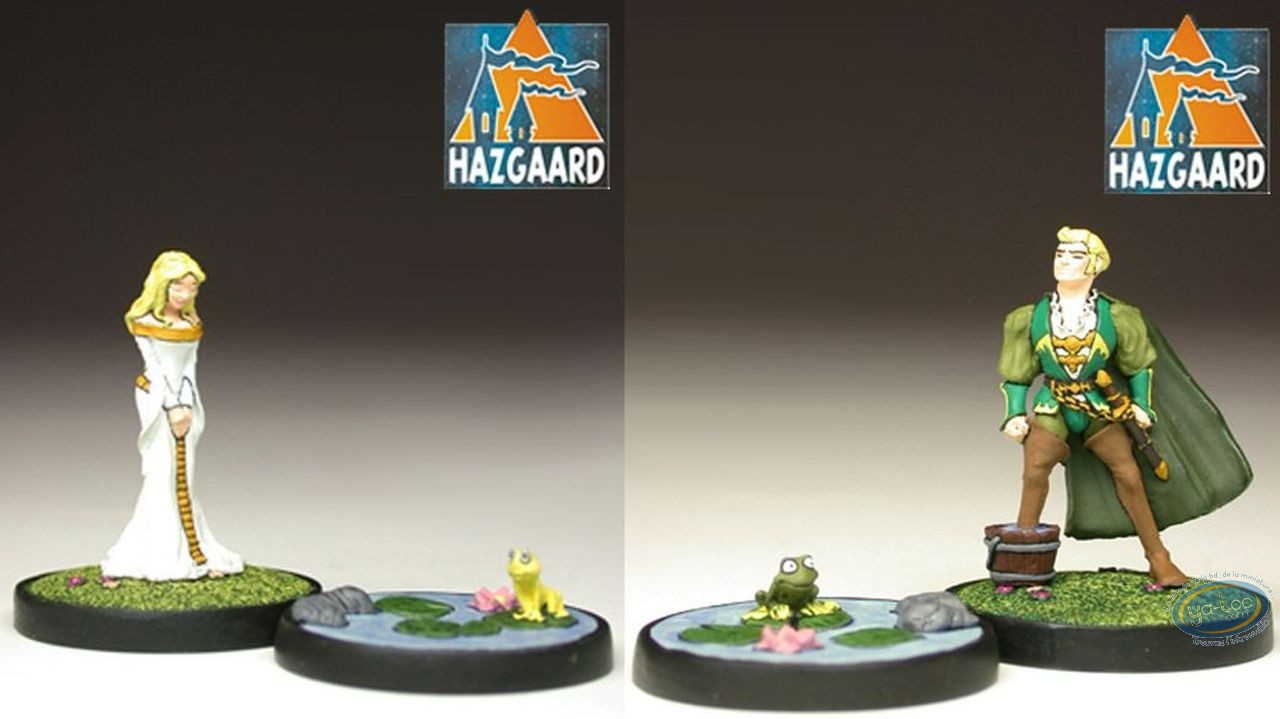 Figurine métal, Garulfo : Garulfo & Romuald + Héphylie & sa rainette