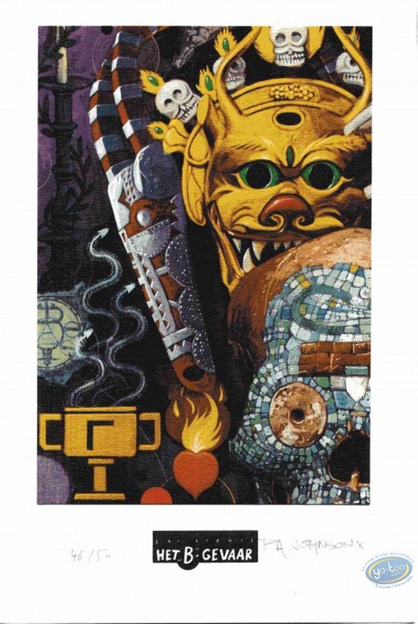 Ex-libris Offset, Création (La) : Masque