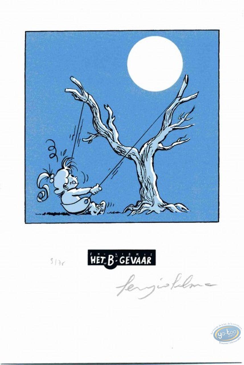 Ex-libris Sérigraphie, Nathalie : La lune