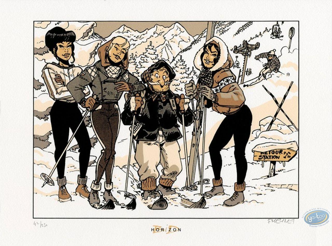 Affiche Sérigraphie, Fanfoué : Sports d'hiver