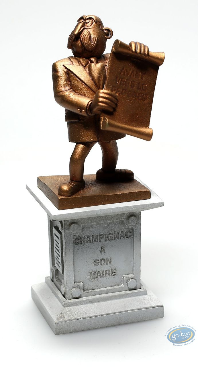 Figurine métal, Spirou et Fantasio : Statue du Maire