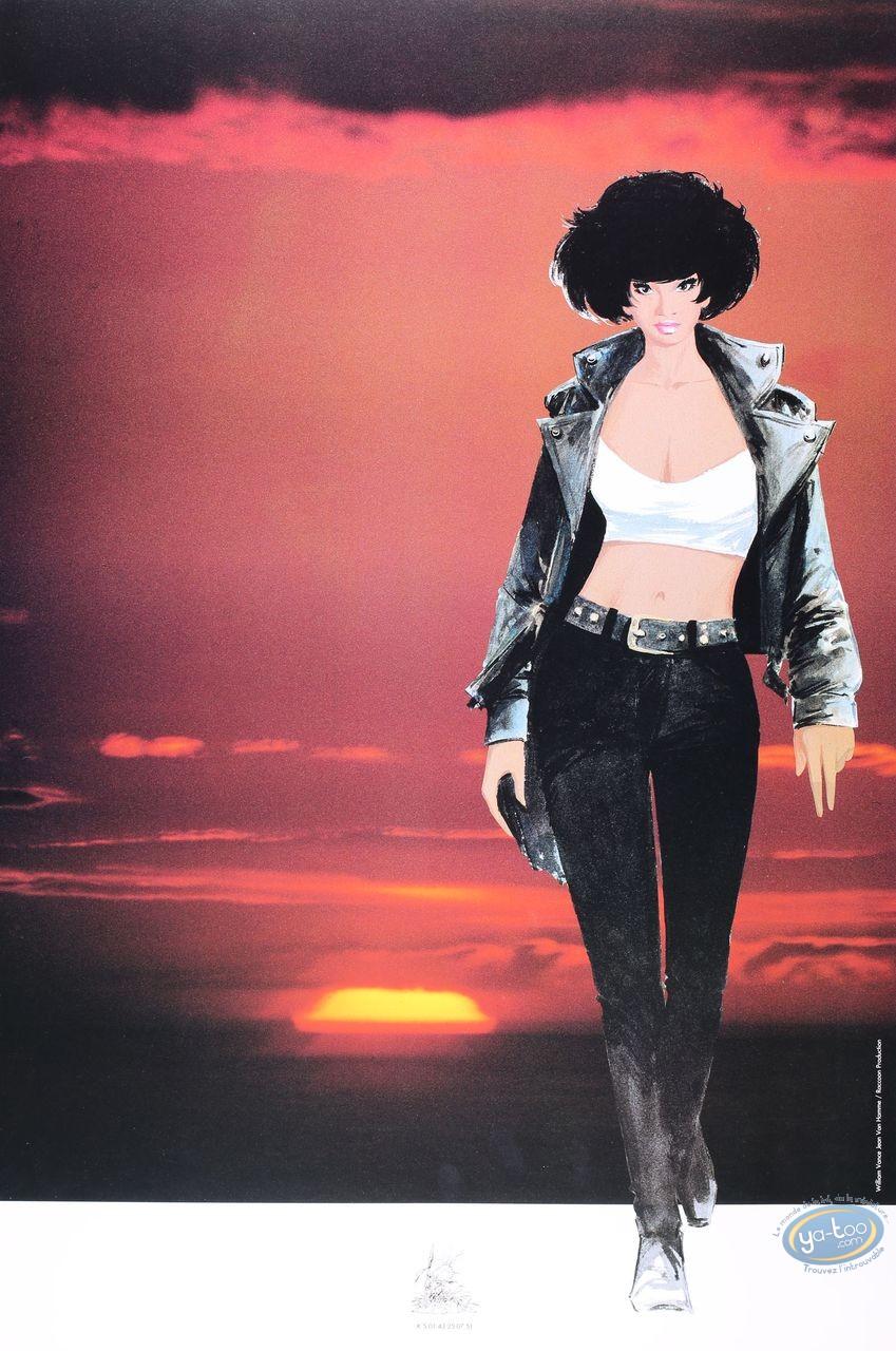 Affiche Offset, XIII : Major Jones marchant au coucher du soleil