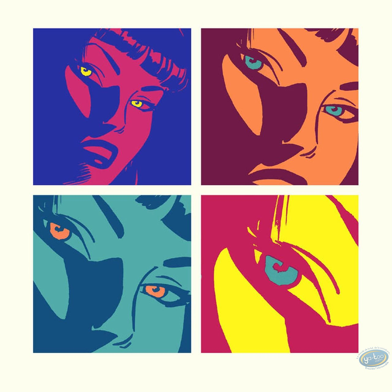 Affiche Sérigraphie, Pin-Up : Hommage à Warhol