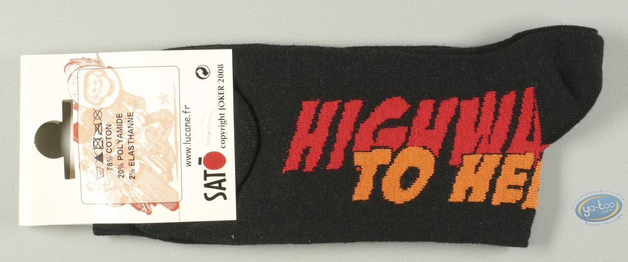 Vêtement, Même pas Peeur : Chaussettes, Higway to Hell - noires