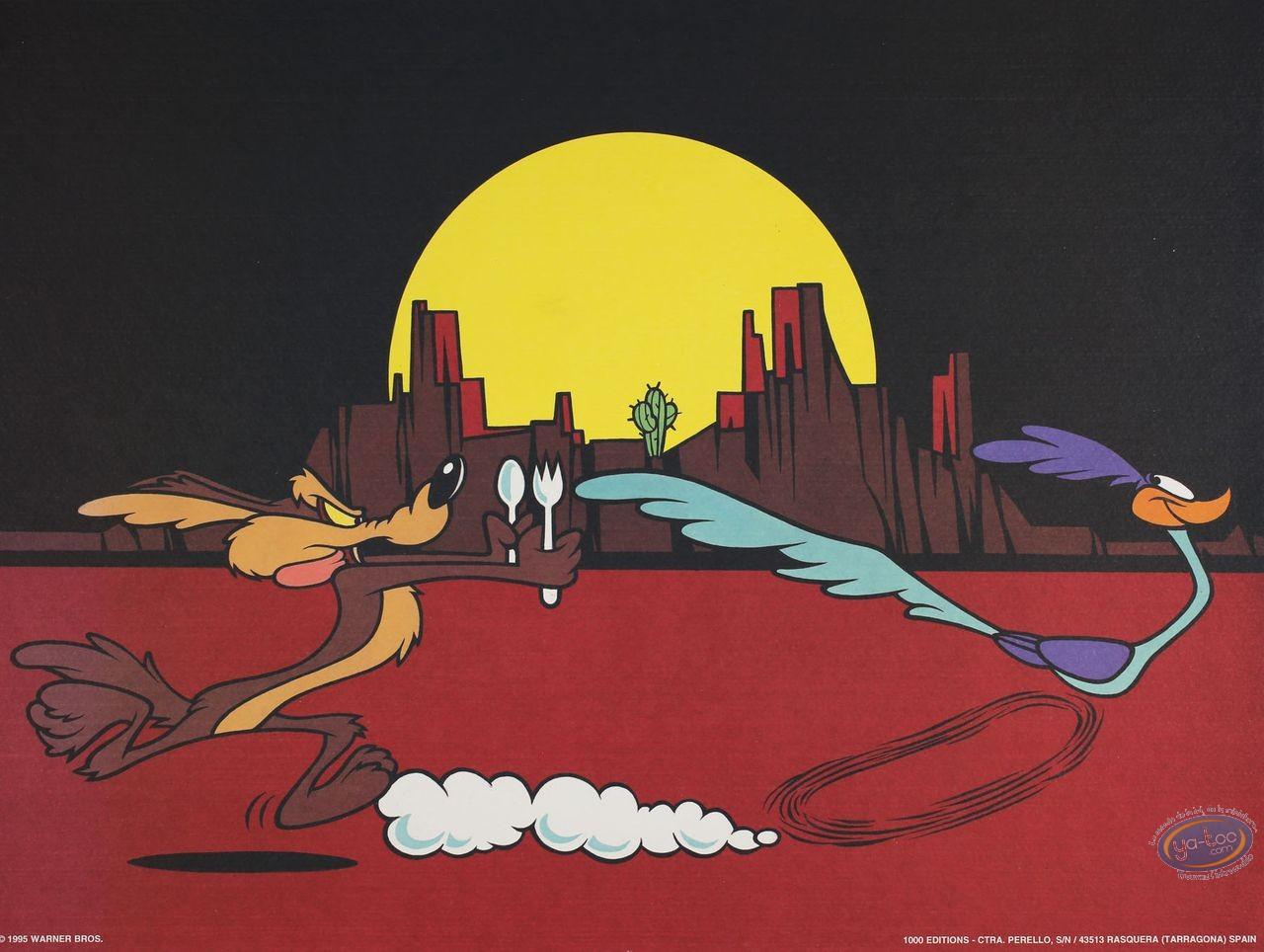 Affiche Offset, Vil Coyote : La poursuite 40X30 cm