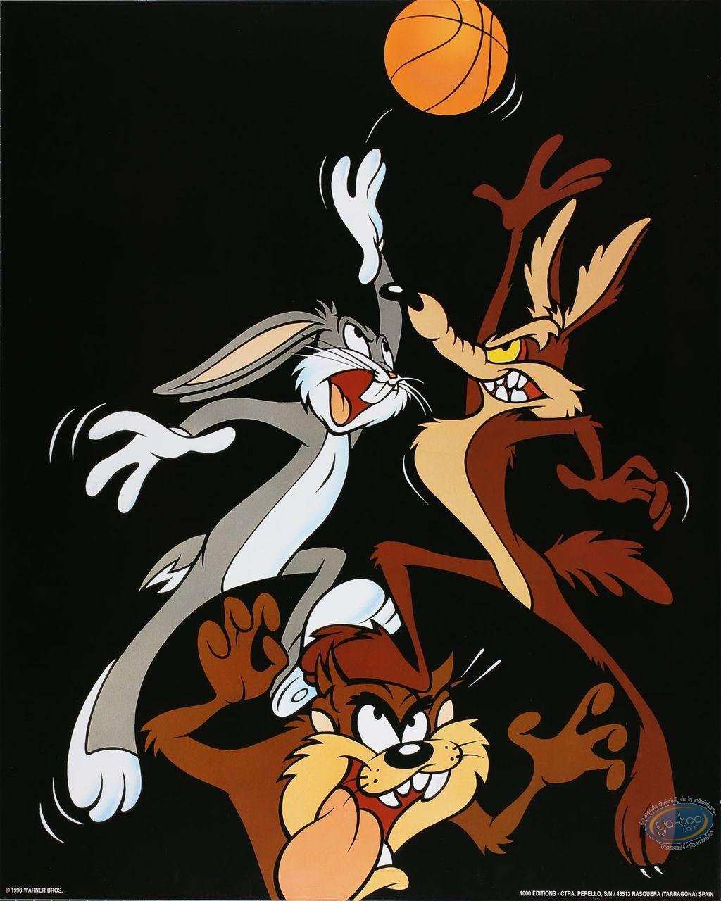 Affiche Offset, Looney Tunes (Les) : Looney basket 40X50 cm