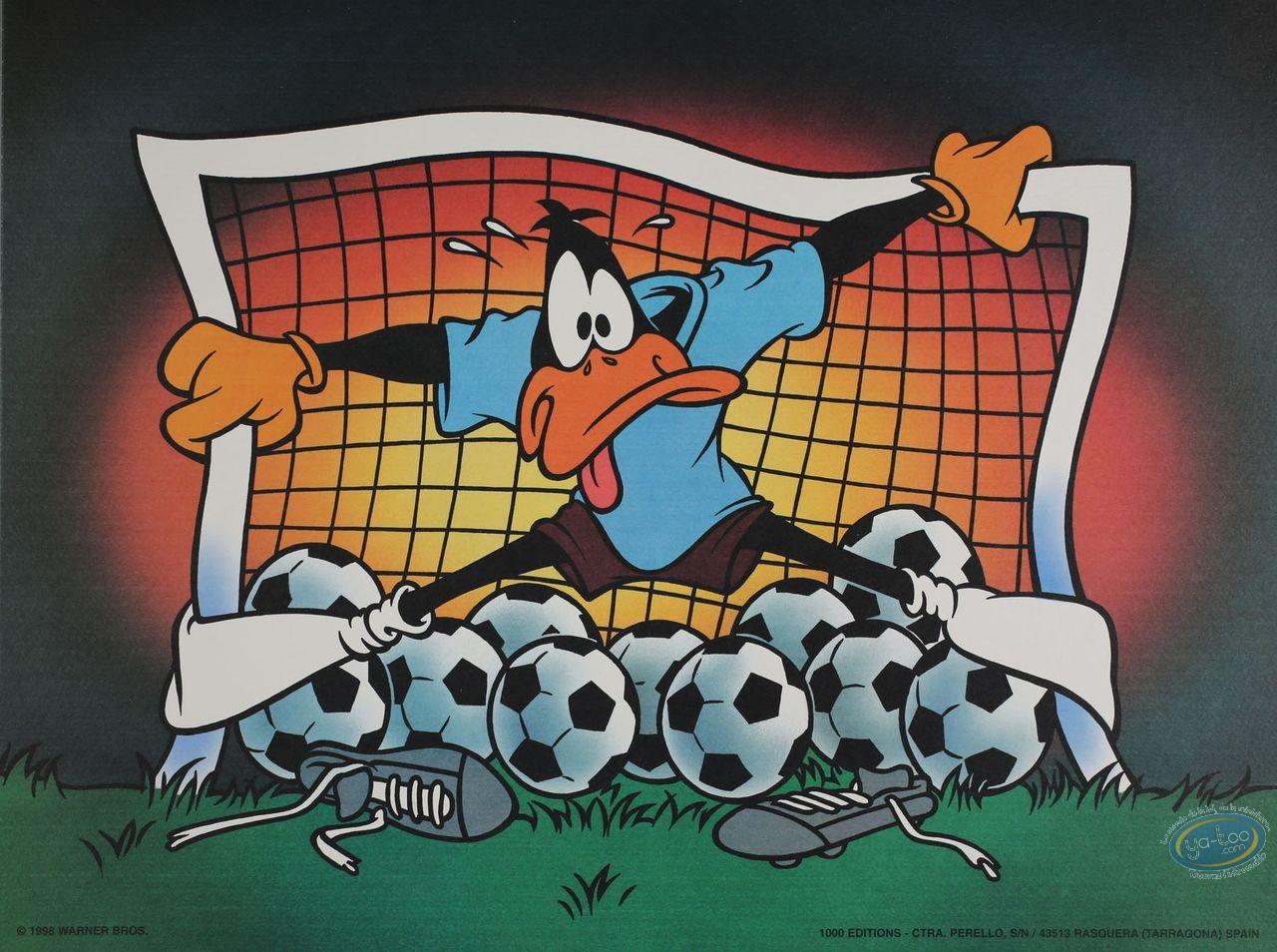 Affiche Offset, Daffy Duck : Daffy goal 40X30 cm
