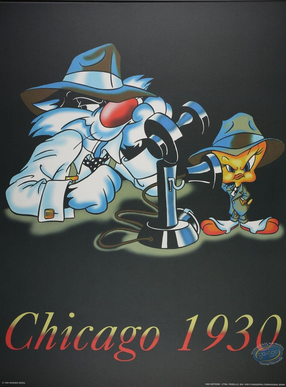 Affiche Offset, Titi : Chicago 1930 60X80 cm