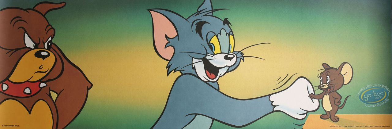 Affiche Offset, Tom et Jerry : Serrons nous la main 90X30 cm