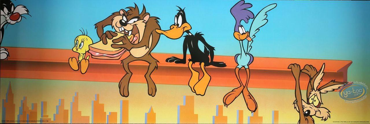 Affiche Offset, Looney Tunes (Les) : Repas sur une poutre 90X30 cm