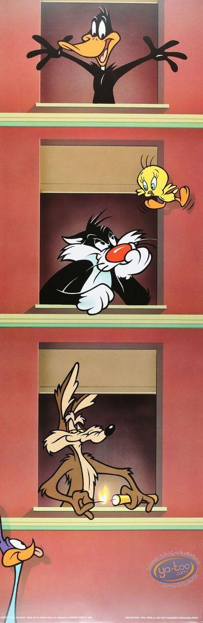 Affiche Offset, Looney Tunes (Les) : Immeuble Looney 30X90 cm