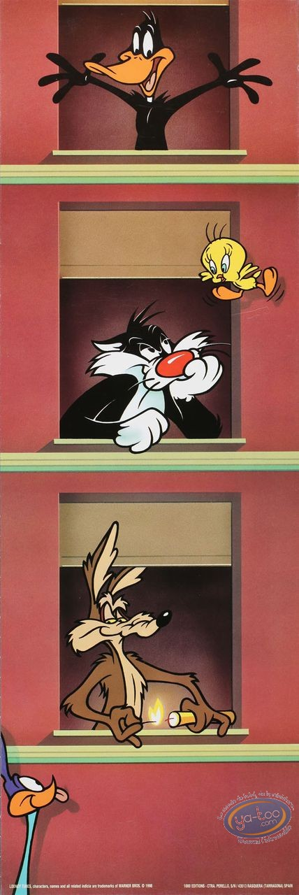 Affiche Offset, Looney Tunes (Les) : Immeuble Looney 15X45 cm