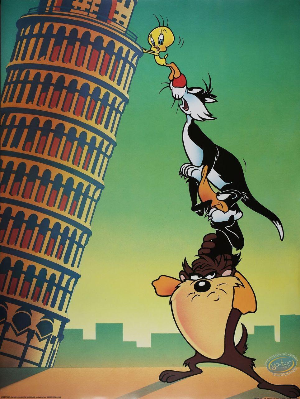 Affiche Offset, Looney Tunes (Les) : La tour de Pise 60X80 cm