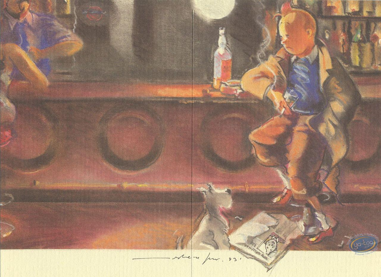 Ex-libris Offset, Tintin : Hommage, Tintin F. Miro n°1