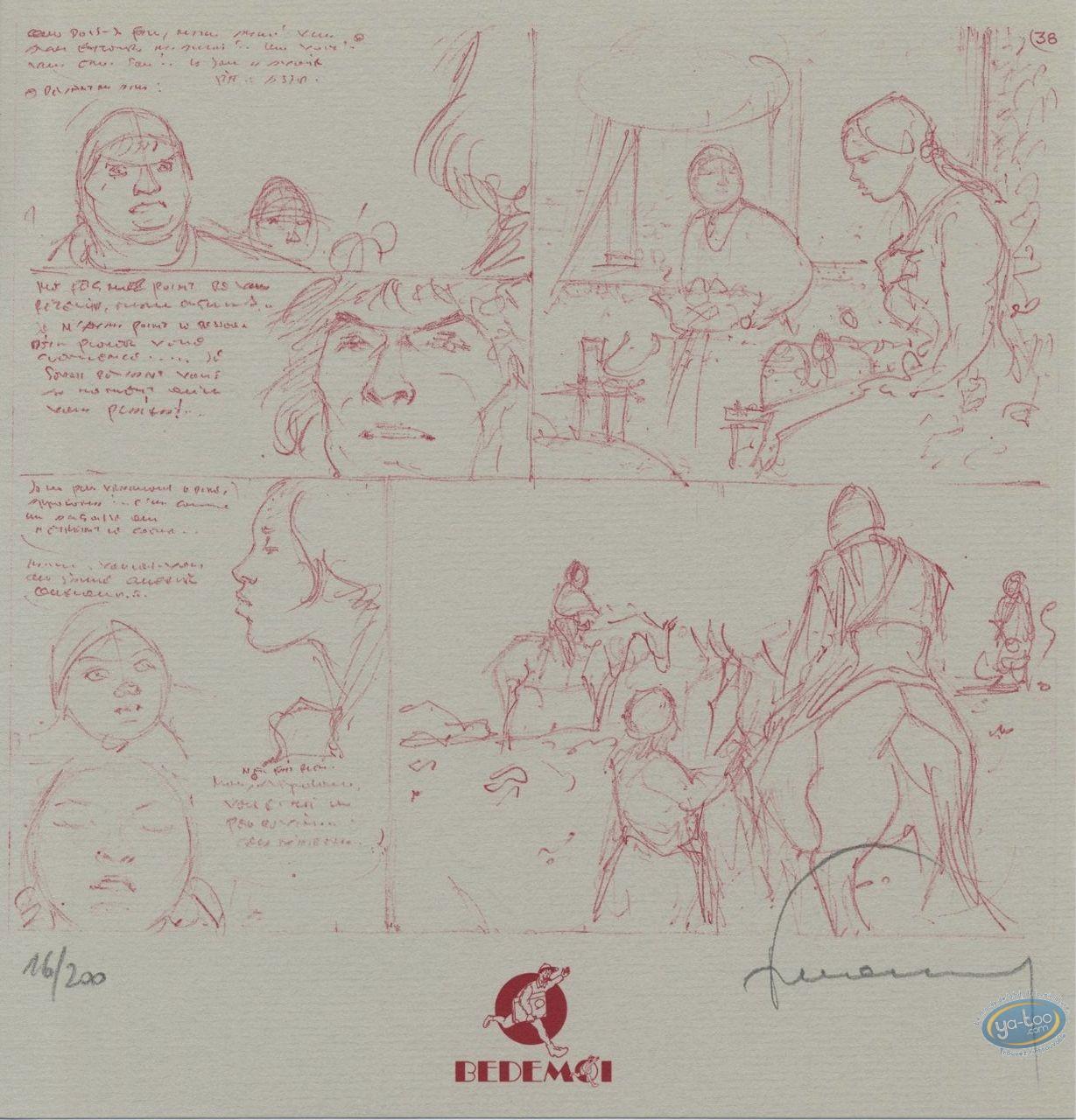 Ex-libris Offset, Tours de Bois-Maury (Les) : Page crayonnée