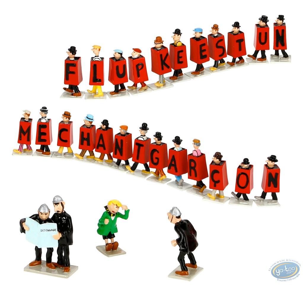 Figurine métal, Tintin : Flupke est un méchant garçon