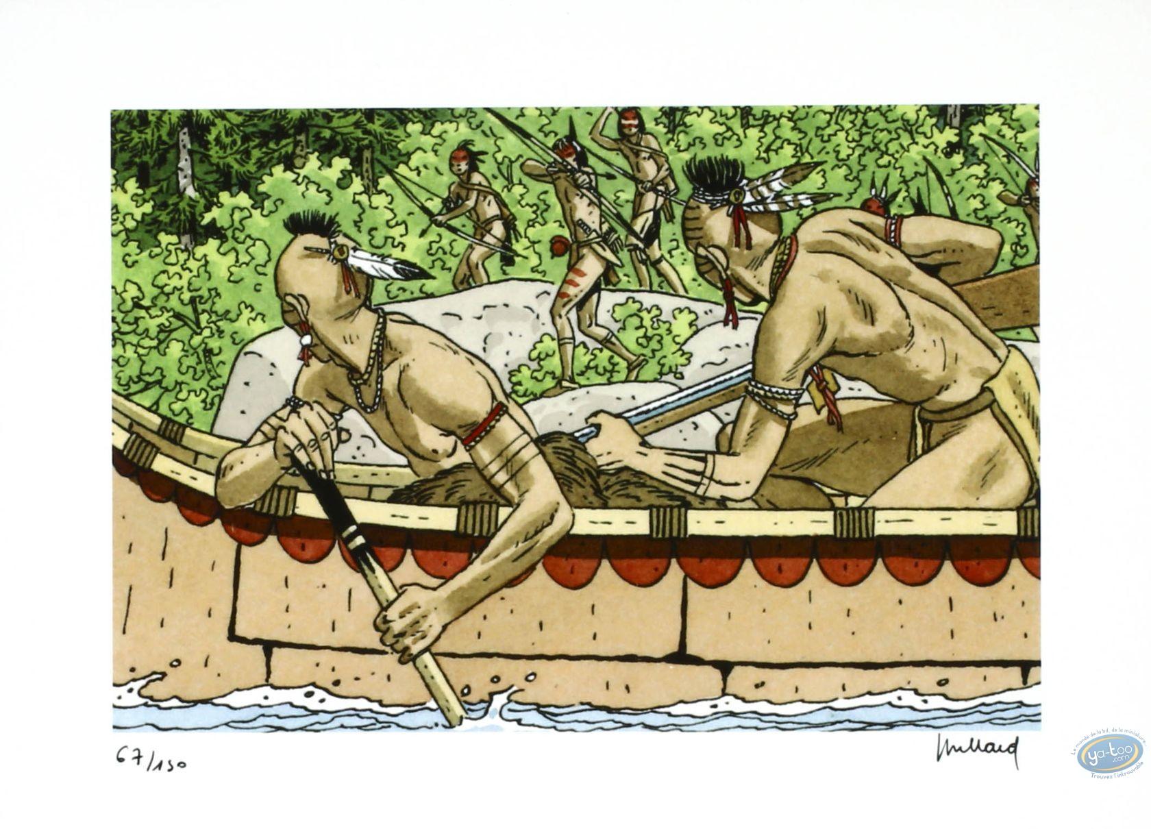 Ex-libris Offset, Plume aux Vents : Les indiens du Canada (Puzzle)