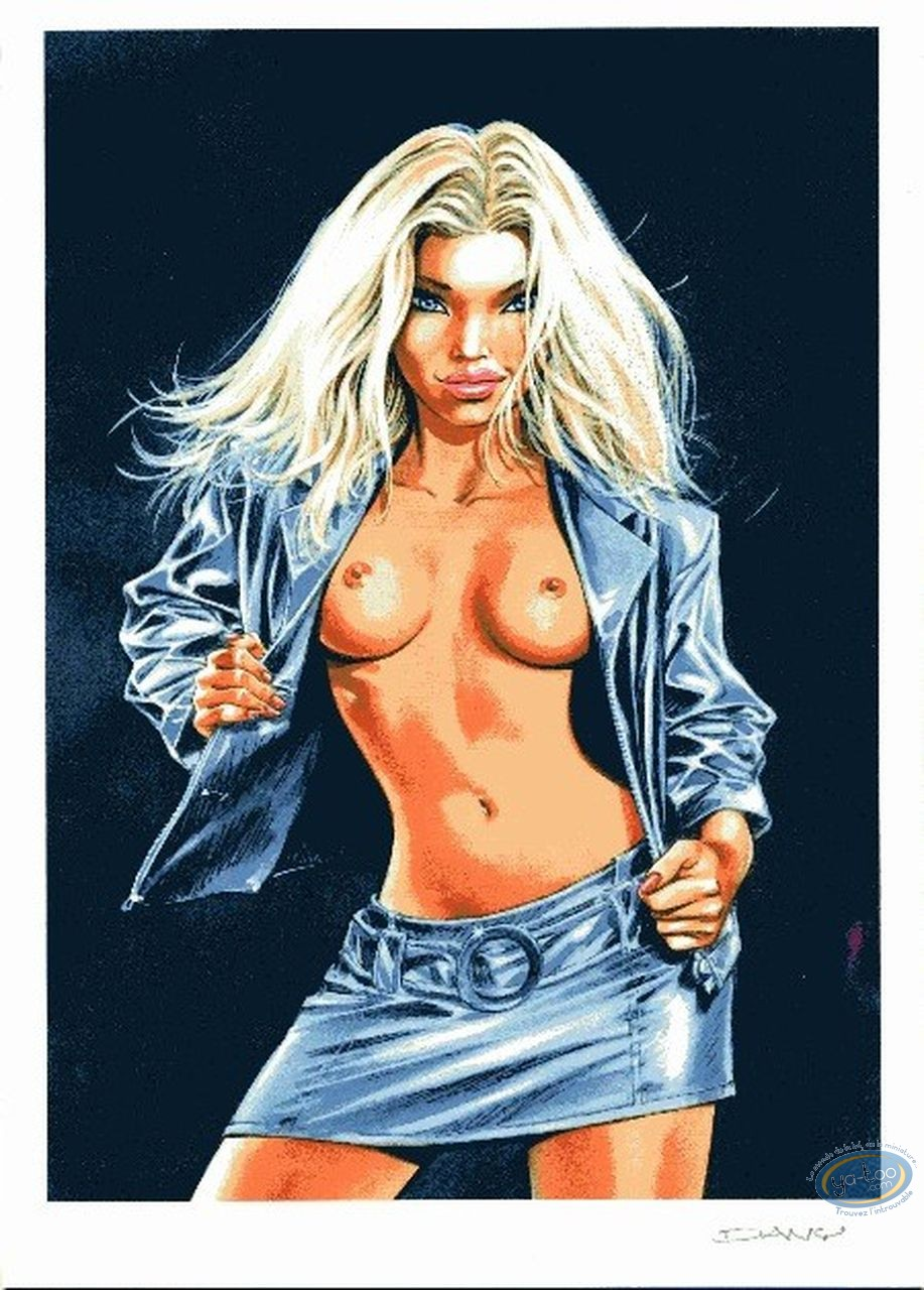 Ex-libris Offset, Ca vous intéresse ?  : Blonde en mini-jupe