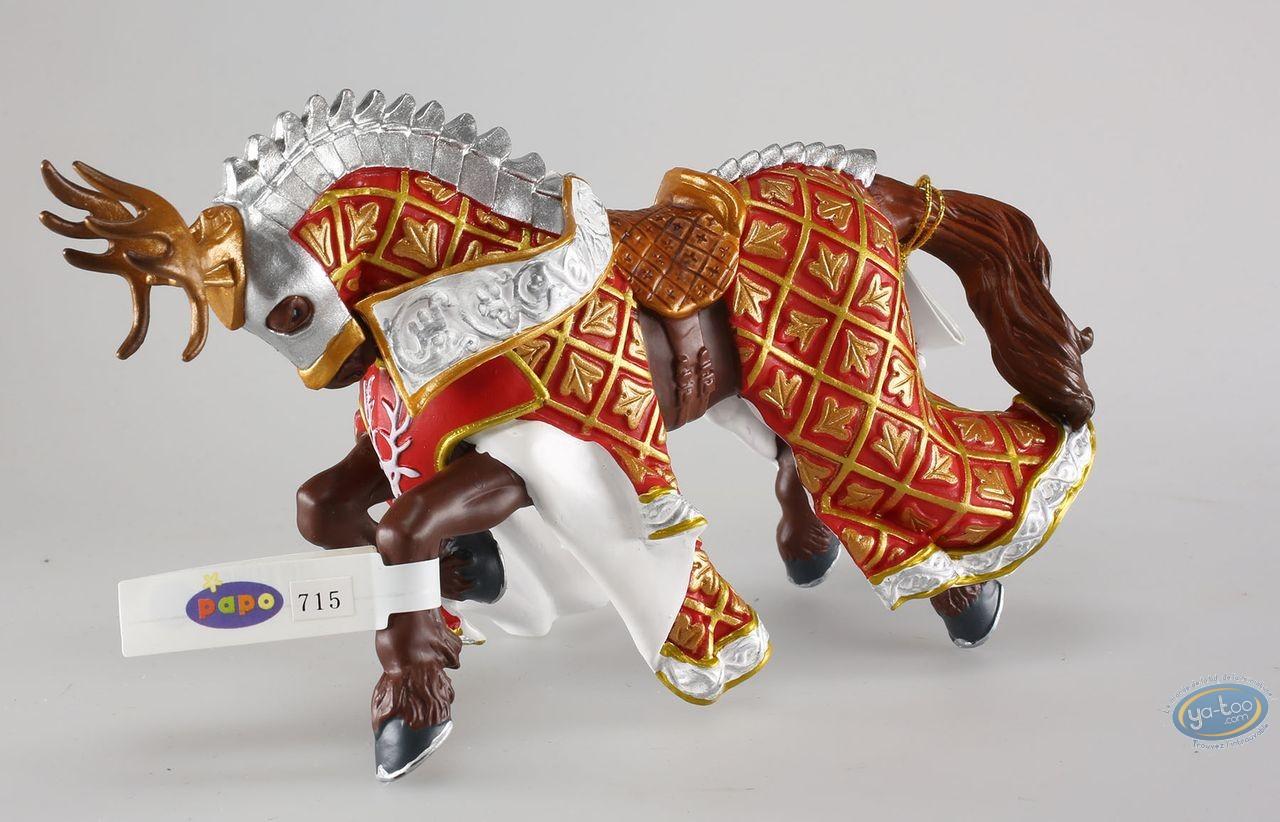 Figurine plastique, Cheval du Maître des Armes Cimier Cerf