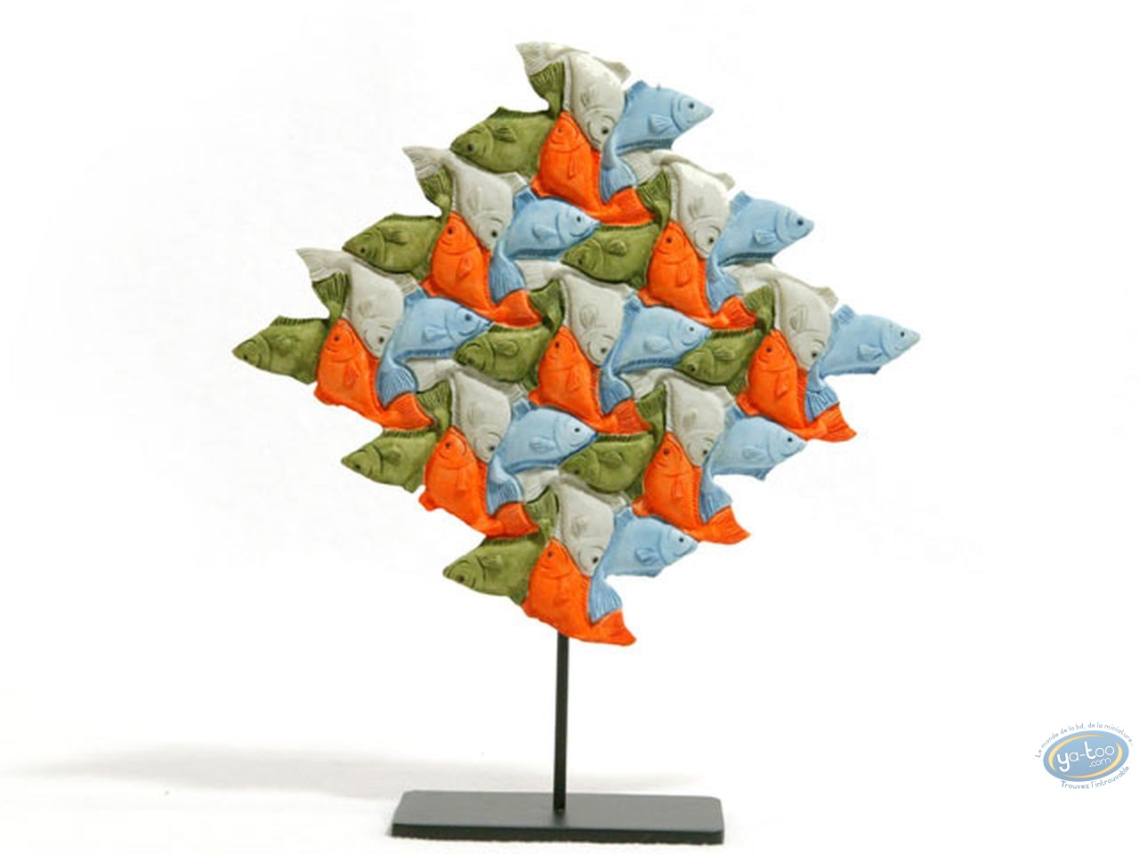 Statuette résine, Tableaux en 3D : Poissons