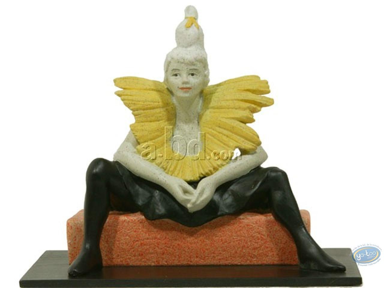 Statuette résine, Tableaux en 3D : Toulouse Lautrec - La Clownesse