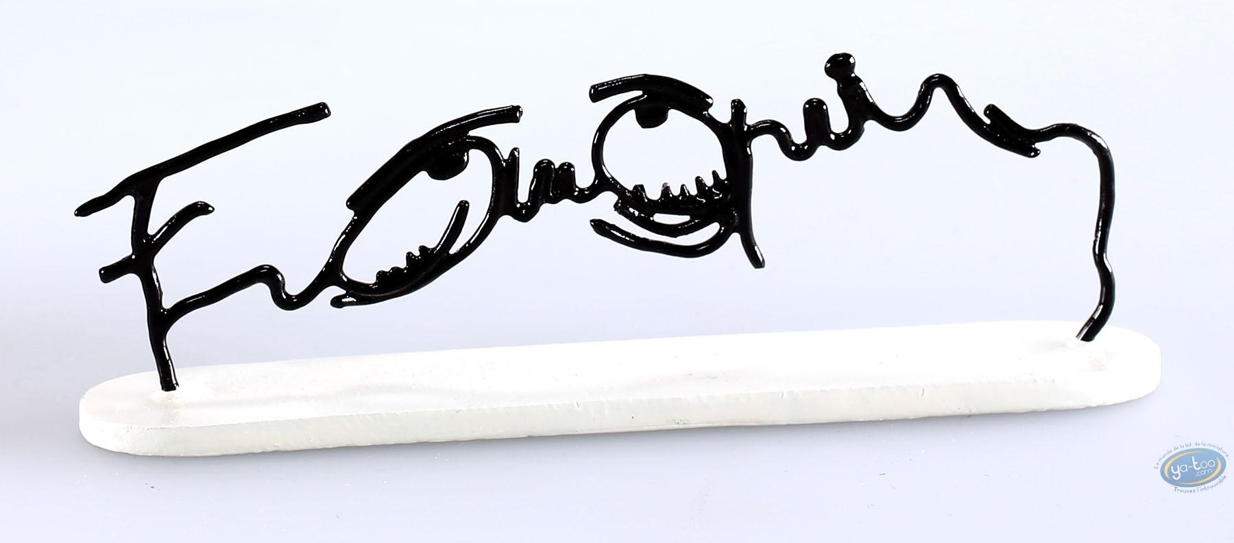 Figurine métal, Idées Noires : Signature : Franquin yeux tristes