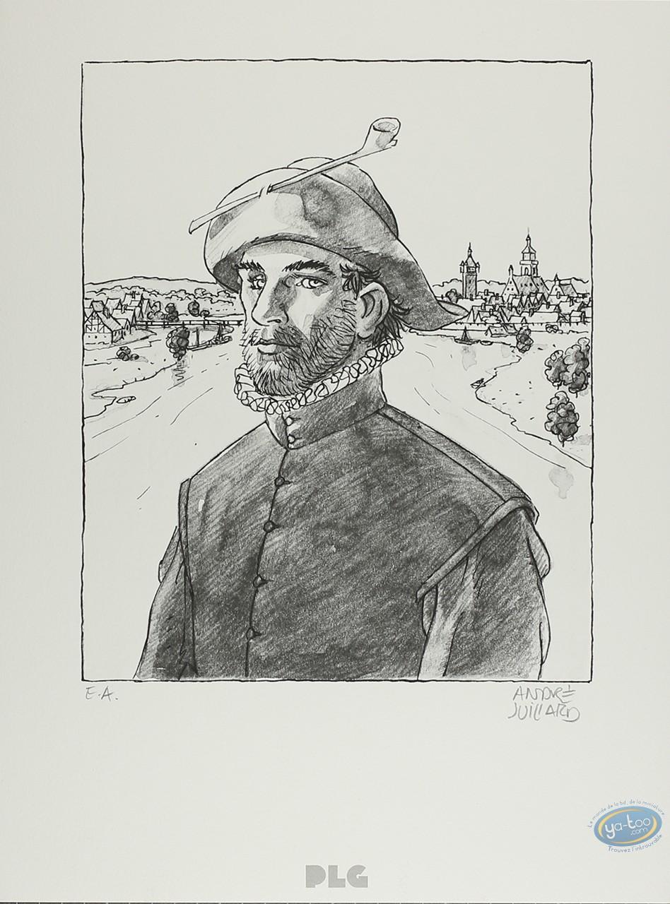 Lithographie, André Juillard : L'Homme à la Pipe