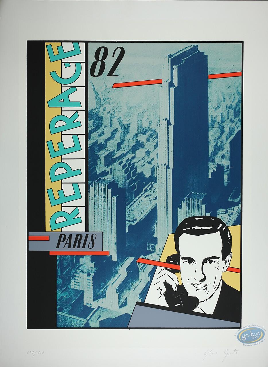 Affiche Sérigraphie, Gloria Spontex : Téléphone
